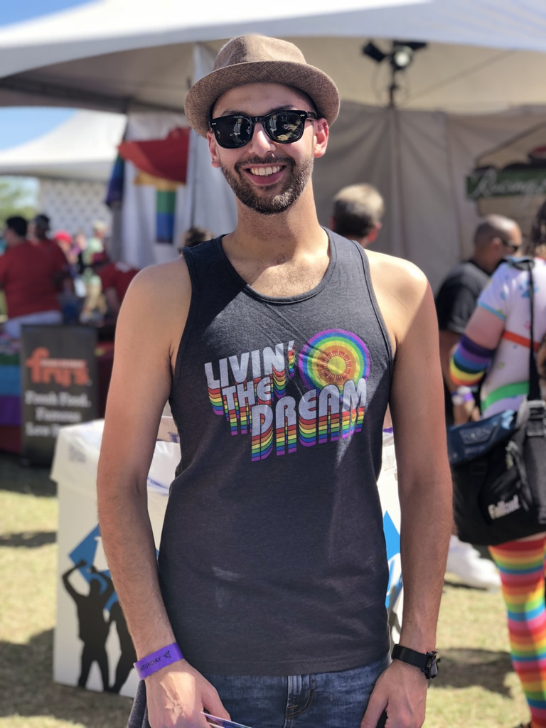stay true to who you are with your pride socks living the dream tank