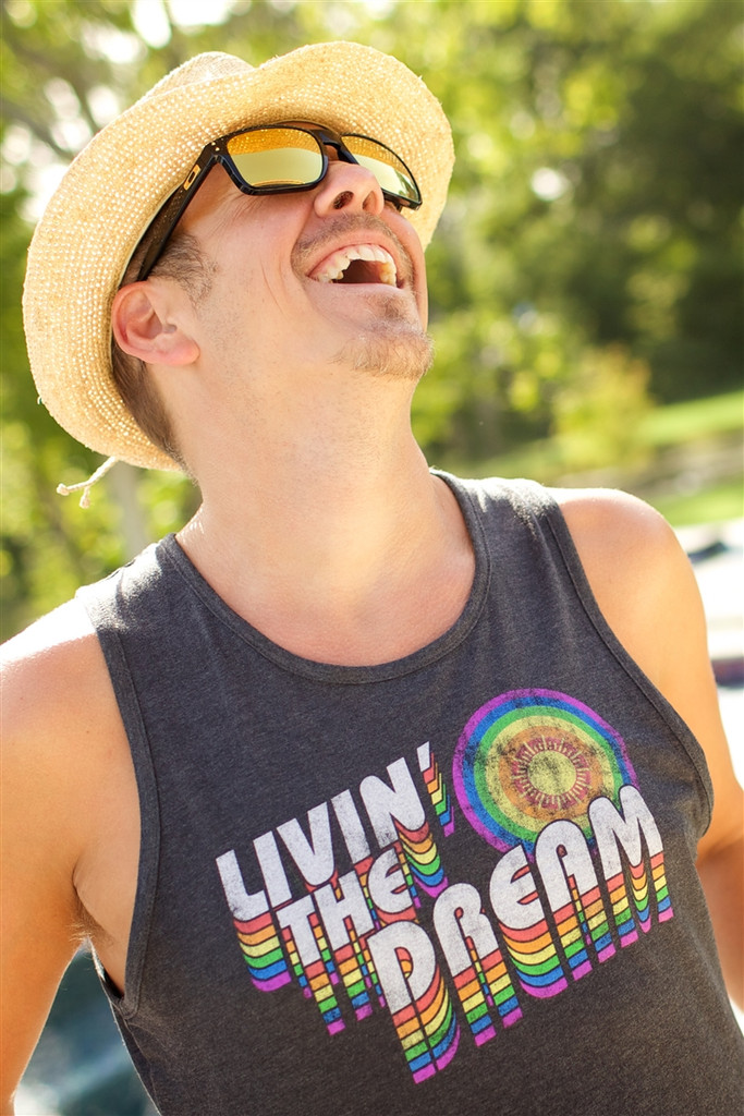 when you are living the dream with your pride socks mens tank, you are laughing and full of life.