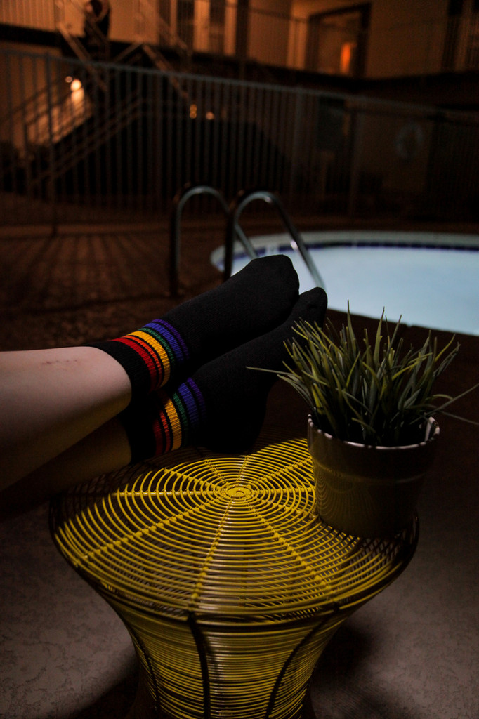 be elegant in your low cut pride socks that