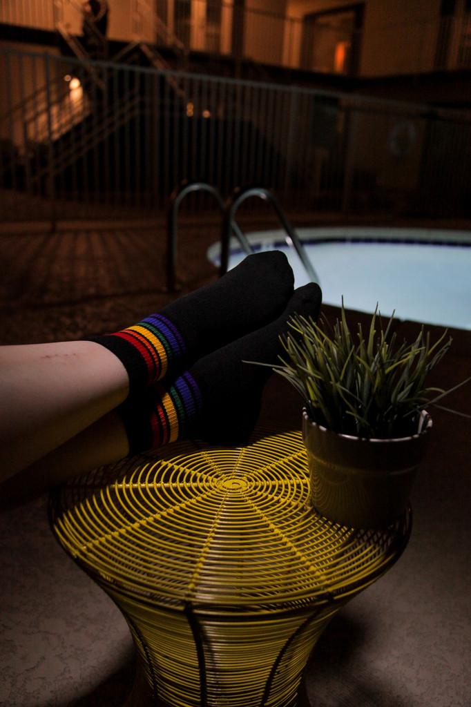 be elegant in your low cut pride socks that