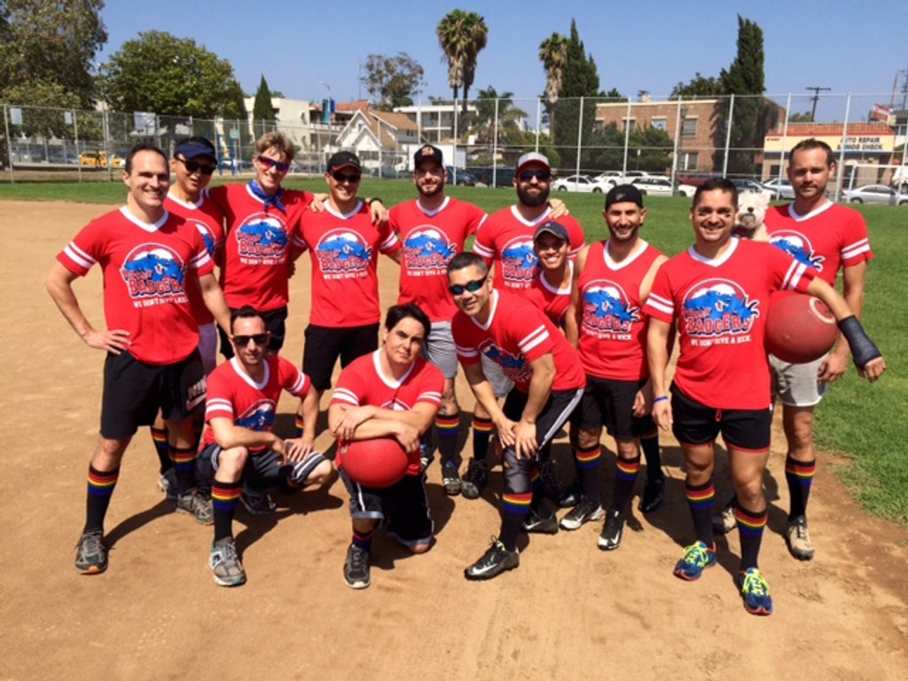get your whole softball and kickball team to wear black rainbow pride socks