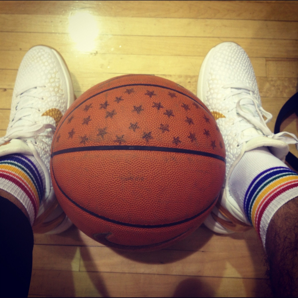 if you play basketball, wear your pride socks.