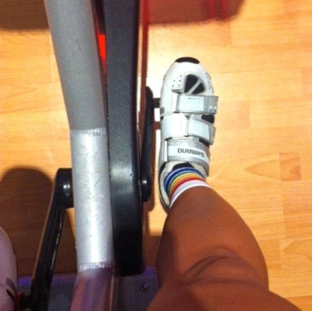 our low cut athletic pride socks are perfect when taking spin class.