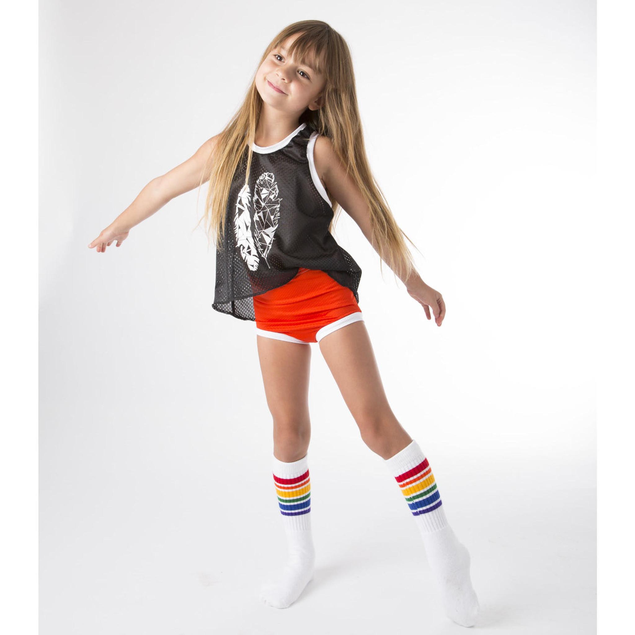 Kids Children Rainbow Striped Mid Tube Socks Baby Knee Socks Elastic Soft Socks