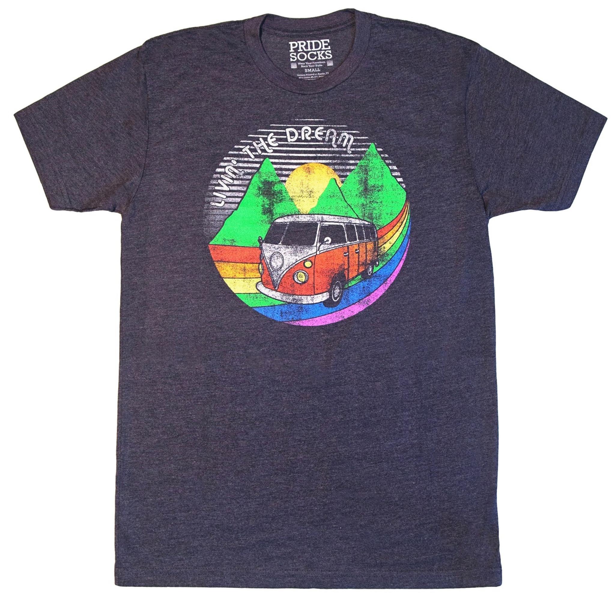 3e82ab2135 living the dream with prides socks rainbow themed retro shirts.