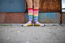 what do you think about these shoes in my rainbow pride socks