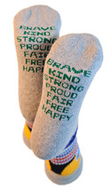 positive intentions pride socks and sky brown