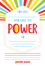 i am power positive note pads for pride socks.