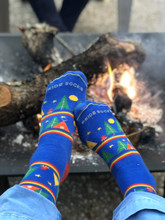 go camping in our womens wanderlust pride socks