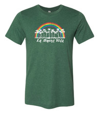 Living the good life with Pride Socks retro rainbow la buena vida shirt.