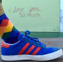 I love you so much austin with pride socks