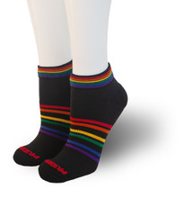 Pride socks athletic rainbow grit socks are perfect for running, cross fit, tennis, golf or for fashion wear.