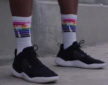 jason collins with pride socks rocking his nba basketball and tennis socks