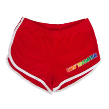 Rock out in these red vintage booty shorts while showing off your pride in who you are.  match them with your favorite pride socks.