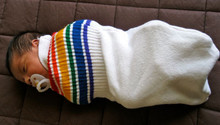 pride socks swaddle is the best new born baby shower you can give someone.