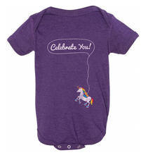 celebrate your uniqueness with this special onesie.  when you purchase it, we donate $5 on your behalf to rubys rainbow.  They provide adults with down syndrome scholarships to attend college!