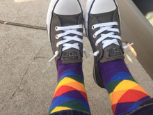 hanging out in my argyle pride socks