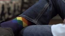 being an entrepreneur means i am one proud business owner especially when I wear my business rainbow socks.