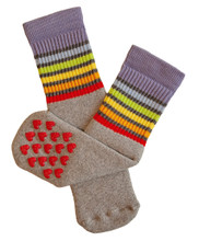 walking on sunshine as your toddler explores new boundaries walking with their pride socks non slip rainbow socks