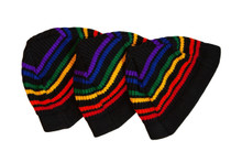 let your toddler rock out in their black rainbow pride socks beanie in fashion