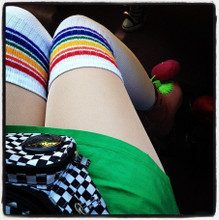 my moxie skates love it when I wear my pride socks because they feel complete.