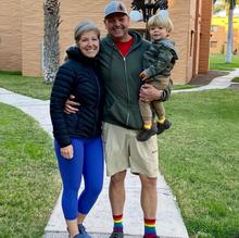 full rainbow pride socks.