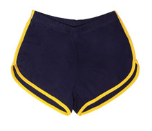 Rock out in these blue vintage booty shorts while showing off your pride in who you are.  match them with your favorite pride socks.
