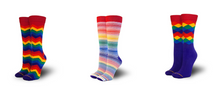 Rock your kids in their natural fashion state with pride socks business casual socks.