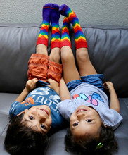 have fun with full rainbow kids pride socks