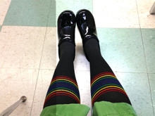if you are a nurse and on your feet all day, our rainbow compression pride socks are for you.