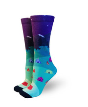 Take your North Star pride socks camping socks with you on your next wanderlust adventure.