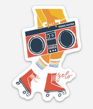 rolller skate with your pride socks sticker