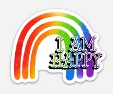 i am happy pride socks love rainbow sticker.
