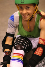 roller derby socks and pride socks go hand and hand.