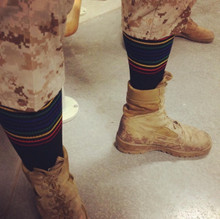 the military love when they can wear our compression pride socks in the field.  it helps their legs stay refreshed.