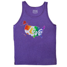 Love is love.  wear your rainbow love mens tank and rock it out at pride