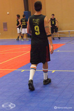 playing basketball in my retro basketball classic pride socks