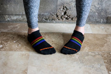 wear our rainbow pride socks for fashion as well.