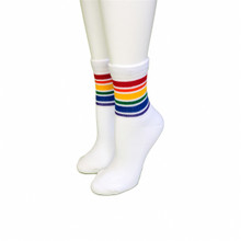our low cut rainbow striped pride socks are made for you to embrace whatever life puts in front of you.
