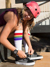 old school tube socks are perfect for when you skateboard