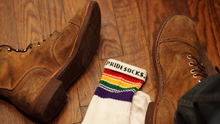 adding fashion to your work out fit with your pride socks