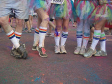 when you do fun runs together, of course you all wear matching pride socks