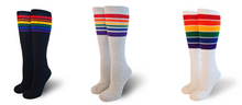 3 Pairs of Any Knee High Rainbow Striped Tube Socks