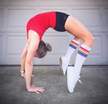 yoga in pride socks makes you bend over backwards for anyone.