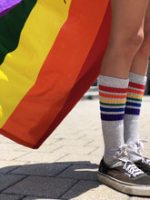 keep the rainbow flying with your pride socks going strong