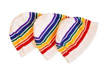 pride socks white beanie to keep you snuggle warm in the winter