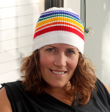 rock your pride socks rainbow beanie any time for fashion
