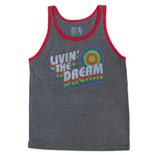 wear pride socks living the dream retro vintage tank when your at pride or roller skating.