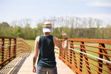 peace out.  love wearing my pride socks rainbow trucker hat backwards.