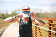 hold on to your rainbow pride socks snap back.